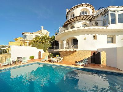 Photo for Vacation home Vista Panorama in Moraira - 8 persons, 4 bedrooms