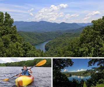 Photo for Fontana Lake Cabin w/ Private Dock , Fishing Pond, Huge Covered Porch & 50+ Acre