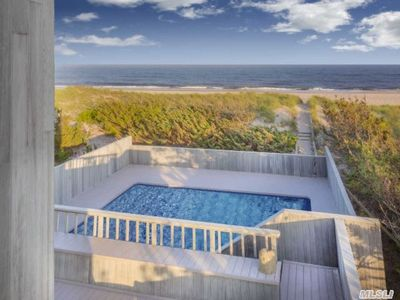 Photo for 8 Bedrooms on Dune Road..Directly on Beach!!