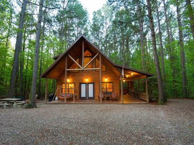 Photo for Dancing Rabbit & Tipi (2 Bdrm)(Luxury Cabin)(HOT TUB)