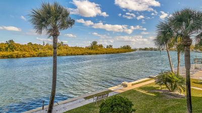 Photo for Boat Watchers Paradise - 2BD/2BA Direct Intracoastal Water View w/ Beach Access right across the street - FREE WiFi included