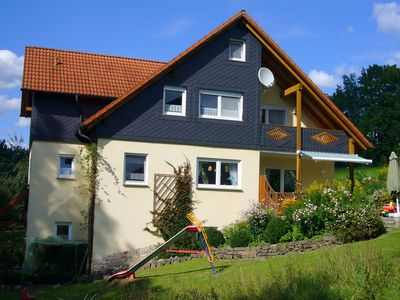 Photo for Cosy apartment in the Franconian Forest with sauna, balcony and large garden