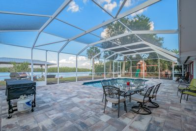 Waterfront Pool Home with Boat Dock and Screened Patio! Real Florida Salt  Life! - Southside Rural Community