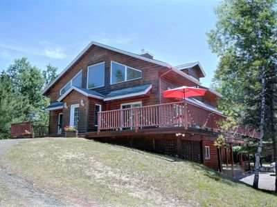Photo for Beautiful cottage in Val-David - Log house #7