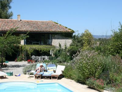 Photo for Attractive stone house in rural location with pool and attached gite
