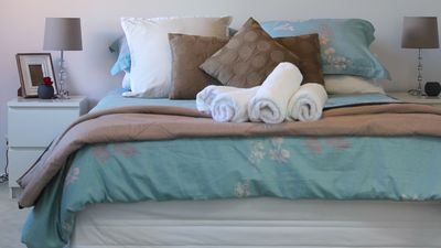 Spacious main bedroom  with ensuite.