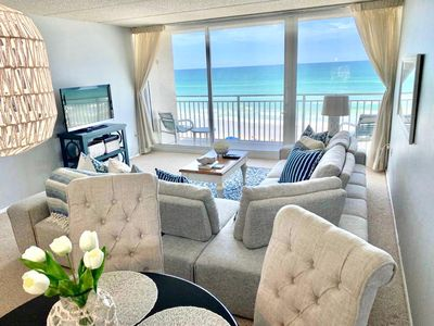 Photo for Ocean front condominium  with spectacular views, 15 minutes from Daytona Beach.