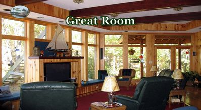 The 'Great Room' - east view. Watch birds, sunsets or TV. It's all there for you