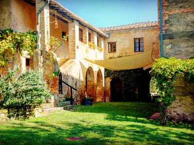 Photo for Fagianaia - pool farmhouse12 guests - Montalcino view in Orcia Valley