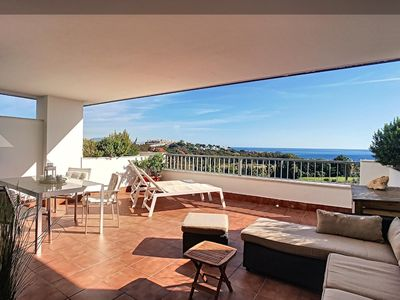 Photo for CASA CASARES: 2 BEDROOM - 2 BATHROOMS - SEA VIEW AND GOLF COURSE - FULL SOUTH - LARGE TERRACE