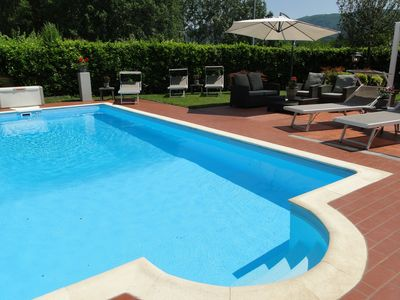 Photo for Luxury villa with private pool, close to historic centre of Lucca