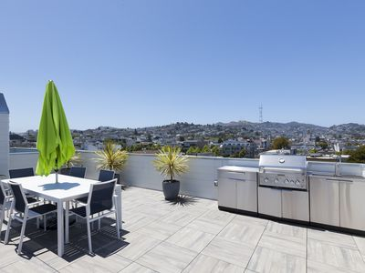 Photo for 2 Bd Condo w Rooftop Deck and A/C in Mission