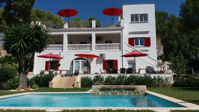 Photo for Beachfront XXL Villa with sea view for 10 - 18 persons, Paguera, Mallorca