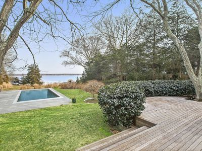 Photo for Harborfront Contemporary With Waterside Pool and Boat Mooring