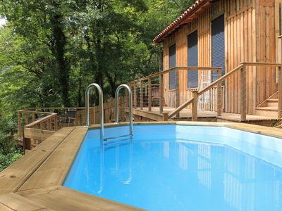Photo for Beautiful Chalet with private pool and outdoor terraces. Brand new!