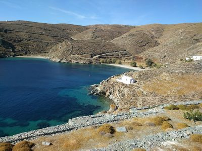 Photo for Beach Front House At Potamia, Kythnos Island
