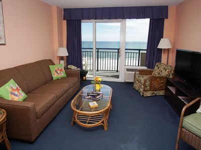 Photo for Boardwalk Beach Resort 634, Lovely 1 BR Ocean Front Condo with Indoor Outdoor Pools, Hot tubs, Lazy River and Kiddie Pool