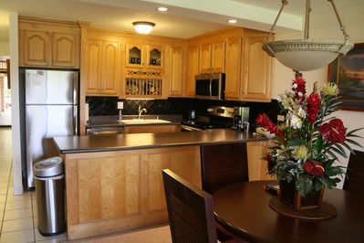 Kitchen area with all NEW Stainless Steel Appliances!