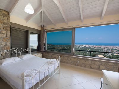 Photo for Two bedroom house with amazing panoramic sea and city view