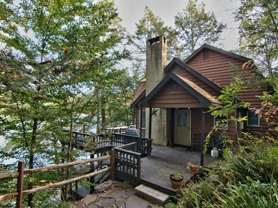 Photo for Lakefront Chalet Sleeps 10 - 12 max  WIFI