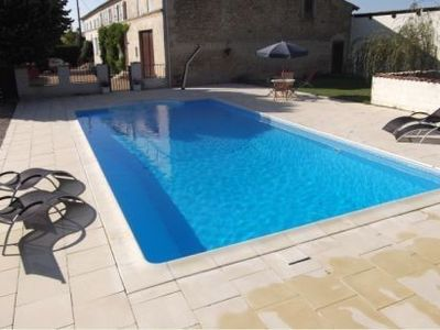 Photo for Beautiful Gite in House With Private Heated Pool Near Jonzac, Charente Maritime
