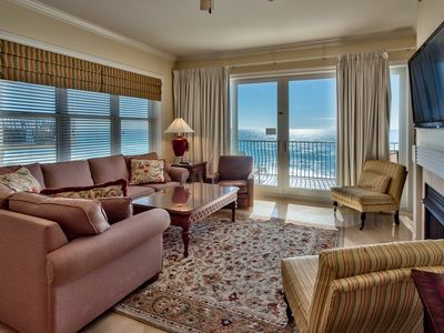 Photo for Adagio C401 Family-fun four bedroom, top floor end unit on the beach, pools!!
