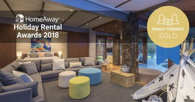 Photo for Cubby House won the Gold award in 2018 HomeAway Family Friendly Holiday Rental Awards category.  The