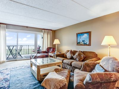 Photo for Renovated 2nd Floor 2 Bed/2 Bath Oceanfront condo sleeps 6.  Oceanfront balcony & pool.