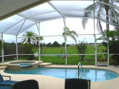 Photo for Luxury 4 bed 3 bath villa with South facing pool