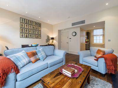 Photo for Feel at home in this air-conditioned two bedroom luxury Mayfair rental