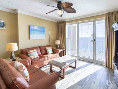 Photo for Beachfront, Corner Unit Condo! Huge Balcony with Views for Miles! Indoor and Out