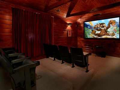 Photo for 5 Bedroom Luxury Gatlinburg Cabin with Home Theater Room