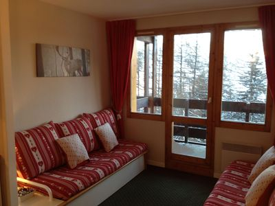 Photo for Newly Refurbished Ski-In Apartment Les Coches situated in the heart of Paradiski