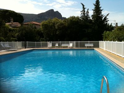Photo for VILLA SOLEDAD - CASSIS. SECURED RESIDENCE SWIMMING POOL AND TENNIS COURT