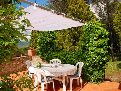 Photo for 'Giulietta' charming apartment, beautiful garden, 10 km from the beach