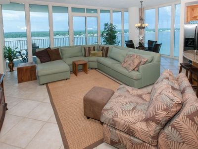 Photo for Great Gulf Views! 3/3/Slps 6, Blcny, Boat Slip Avail, Pier, Pool/Hot Tub, Free Tix-Lagoon Tower 1402