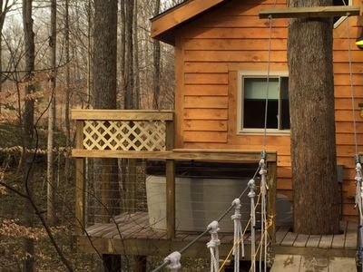 Photo for Beautiful tree house built amid Poplars, old White Oaks, and Red Maples.