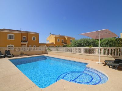 Photo for Comfortable 5 bedroom Villa Garduix, private pool and free wifi in Calpe near the beach