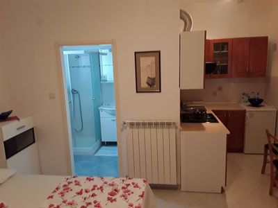 Photo for Studio in Soši-Umag, holiday in the countryside, 5 min from the sea, veranda, garden