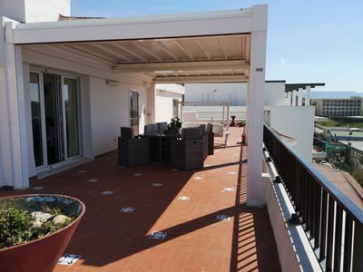 Photo for MIRA EL MAR -A stunning sea view apartment large sea view terrace 3 bed 2 bath