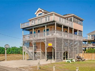 Photo for Get Sandy in Rodanthe! Oceanview w/ Easy Beach Access, Pool, Hot Tub, Game Room