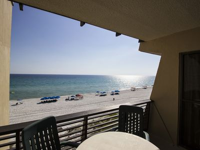 Photo for Lovely condo for six right on the beach with community pool - snowbirds welcome!
