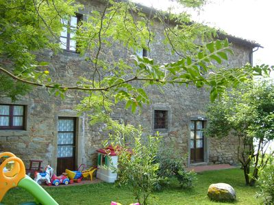"Photo for Apartment TOP 5, garden, overlooking the lake Trasimeno, on a farm ""THE SUMMIT"""