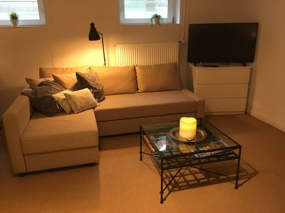Photo for Chic 1 room basement apartment 45sqm centrally located in HH-Flottbek