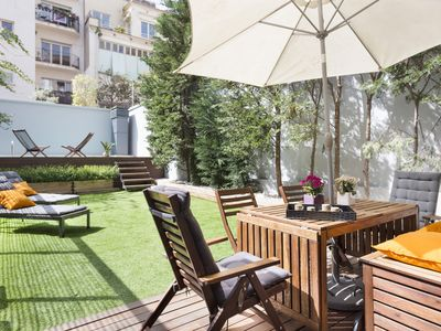 Photo for Stylish duplex with private terrace & swimming pool ideal for groups of up to 10