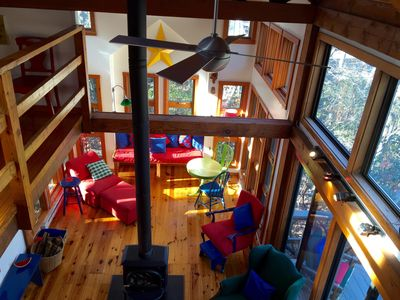 Photo for Spectacular post & beam contemporary home/ beautiful setting in center of resort