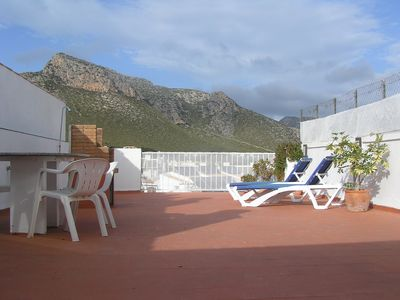 Photo for Penthouse Apartment with Pool, Mountain and Sea Views from private roof terrace.