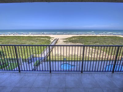 Photo for Beautiful 2 bedroom 2 bath beachfront condo located on the 4th floor overlooking the Gulf of Mexico