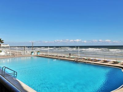 Photo for NEW LISTING!  Waterfront studio w/ kitchenette, shared pool, & beach access