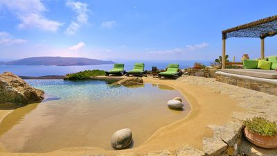 Photo for Stunning luxury property with infinity pool and amazing sea view in Mykonos.